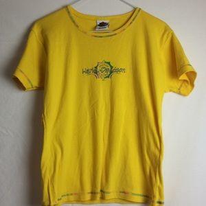 Girls yellow Harley Davidson T-shirt size large